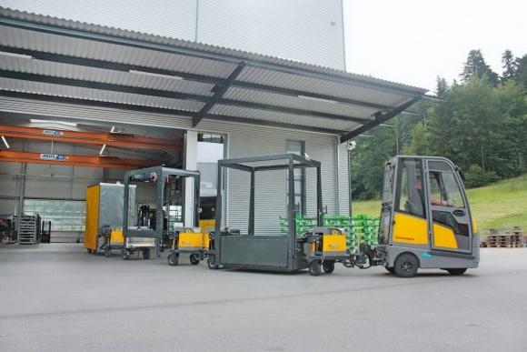 INDUSTRY TRAIN vontatmányrendszer, a Neumaier  vontatmány különlegessége, technológia fejlesztés a logisztikában