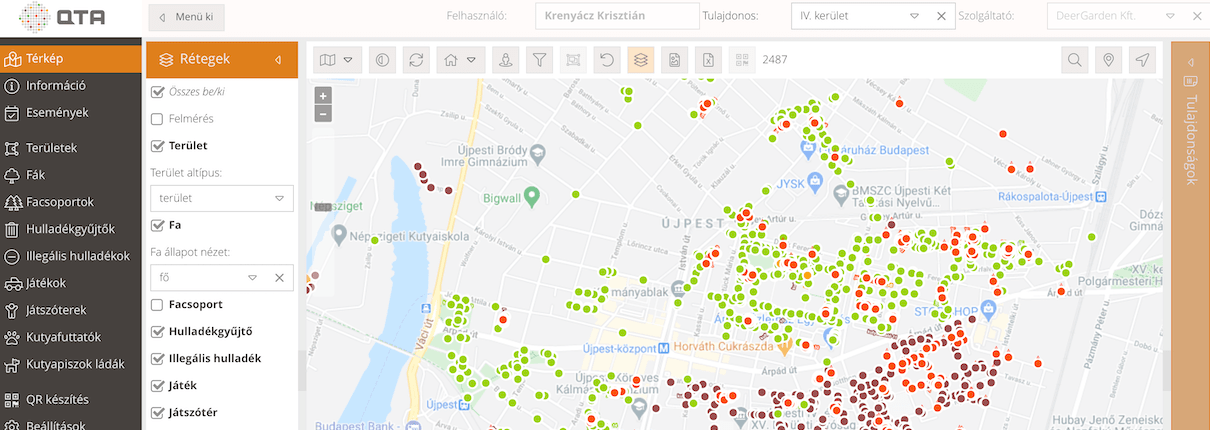 DeerGarden Kft QTA térkép parkfenntartás